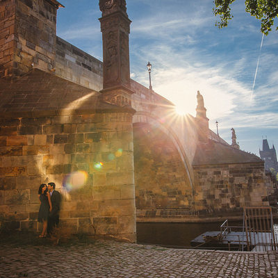 A sexy couple from India during their Prague E-Session