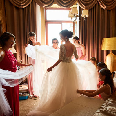 WPJA Award  Bride & Bridesmaids wedding in Slovakia