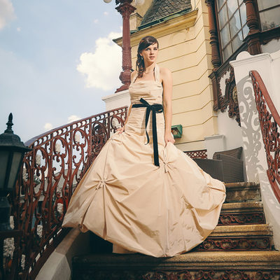 Editorial bridal portrait Anna Prague wedding day photo