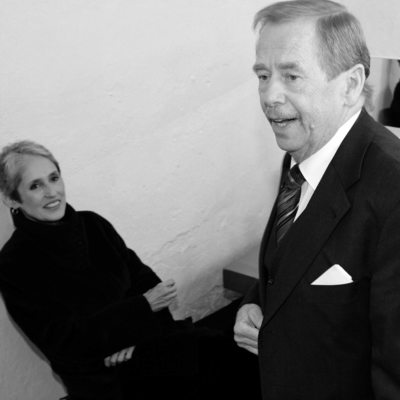 Backstage with Vaclav Havel & Joan Baez
