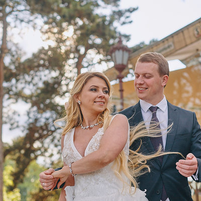 dancing with his bride A&S Prague destination weddings