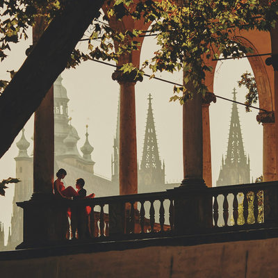 MyWed winning photo engagement portrait Prague castle