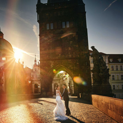Because life is beautiful Wendy & Jack Prague pre-wedding