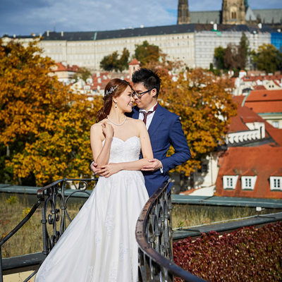 Gorgeous Vrtba Garden Bride & Groom pictures