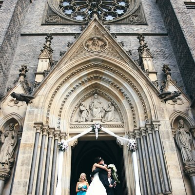 Happiest day of their lives Prague elopement wedding