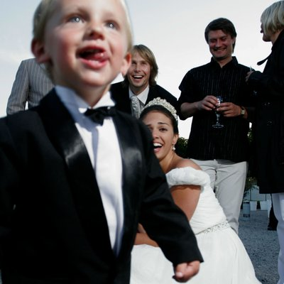 ring bearer wanders off Troja Chateau weddings