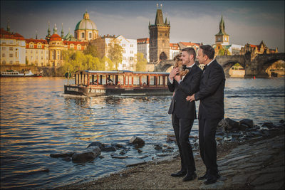gay wedding photos Prague