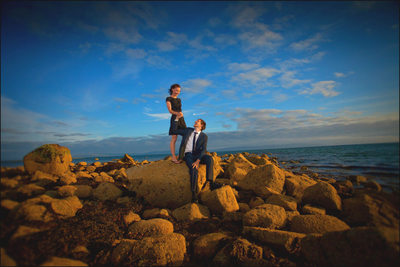 stylish beach engagement couple shoot Galway Ireland