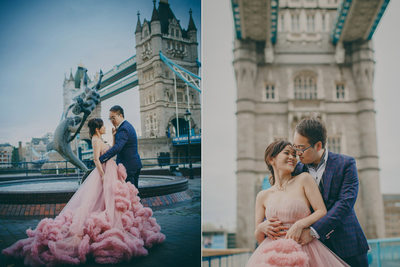 Tower Bridge London pre wedding photos