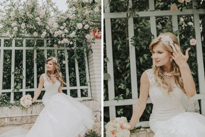 beautiful, unposed bridal portraits of Katie