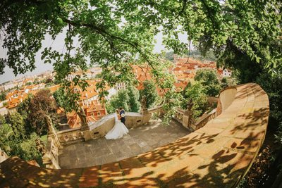 Iconic wedding photos from Prague Ledebour Garden