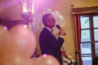 The emcee Alchymist Grand Hotel weddings Prague