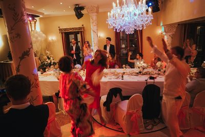 boogieing on the dance floor Alchymist Grand Hotel