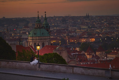 overlooking Mala Strana from Prague Castle at pre dawn