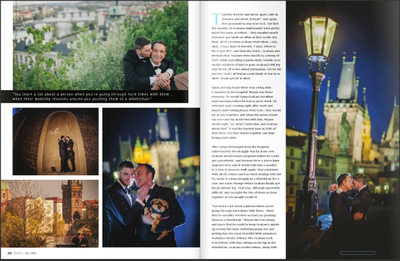 Gay Weddings & Marriage Magazine layout 2