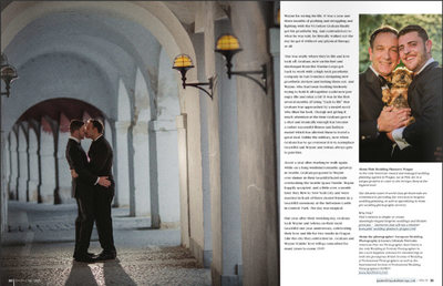 Gay Weddings & Marriage Magazine layout 3