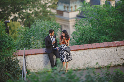 J+P surprise marriage proposal photo from Prague