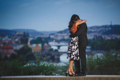 She said yes! Pereen & Jay marriage proposal in Prague
