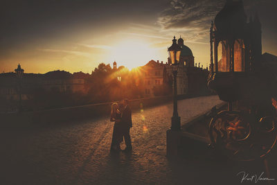 sunrise Charles Bridge anniversary photo Prague photo