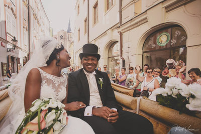Chika & Emeka (IE) wedding day horse & carriage ride