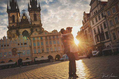 SM surprise marriage proposal Prague Old Town Square
