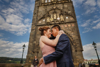 Charles Bridge Powder Tower marriage proposal