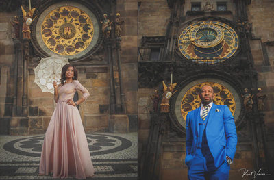 Engagement Session Prague A&E Orloj portraits