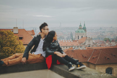 overlooking Prague brother & sister