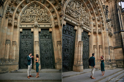 Prague marriage proposal: the build up