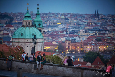 Prague marriage proposal: enjoying the moment