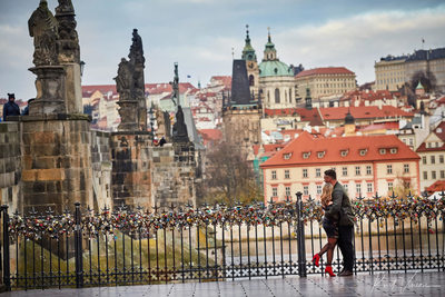 The best view Prague Castle marriage proposal