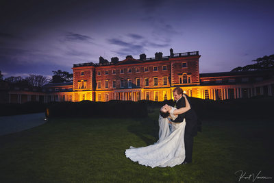 Carton House wedding Ireland Donal dips his bride Laura