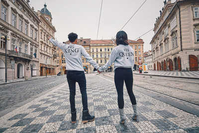 the King and his Queen in Prague