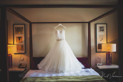 The brides dress Augustine Hotel in Prague
