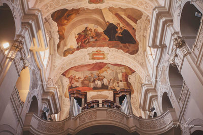 frescoes, organ St Thomas Church Prague