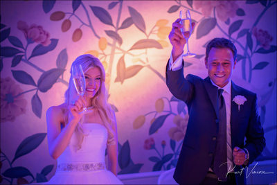 Bride & Groom toast Four Seasons Hotel Prague weddings
