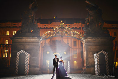Wedding Art Castle Gate Night time