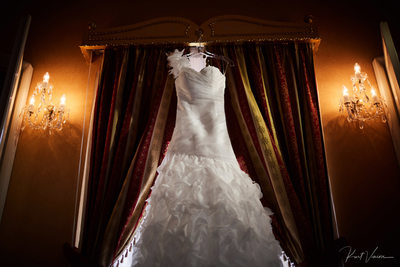 The brides wedding dress Alchymist Grand Hotel Prague