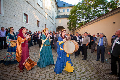 Musicians perform at Prague Castle