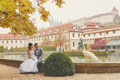 Lovers + White Peacock + Wallenstein Garden + Prague