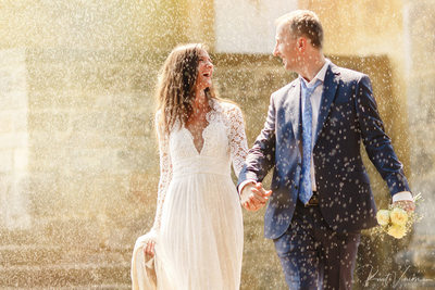 The happiest couple in Prague wedding photography