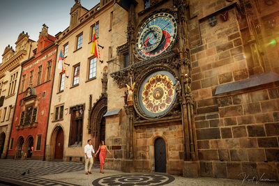 Walking in Prague E-Session Astronomical Clock