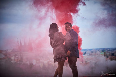stylish over the top marriage proposals Prague