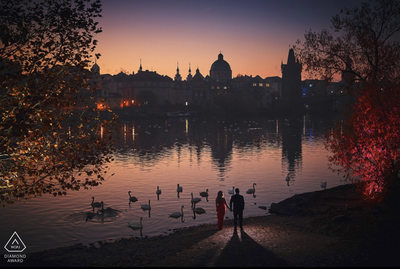 WPJA Diamond Award - Prague - holding hands sunrise