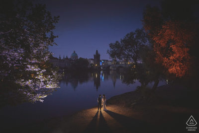 WPJA Diamond Award - Prague riverside portrait