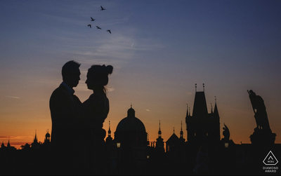WPJA Diamond Award - Prague - Charles Bridge silhouette