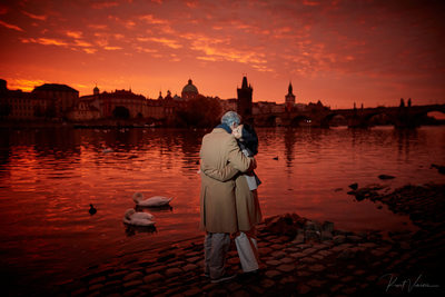 25th wedding anniversary sunrise portrait Prague