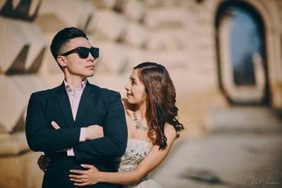 stylish engagement photos Prague