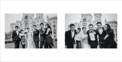 Hong Kong bride & groom's group photo at Hluboka Castle