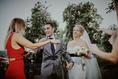 confetti for the newlyweds